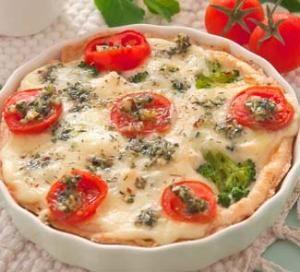 Пирог Капрезе с мятным песто и брокколи. Пошаговый рецепт с фото на Gastronom.ru