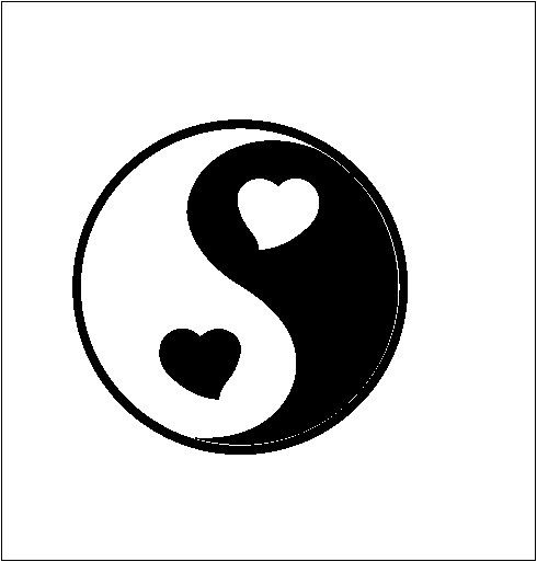 Way Cute :) Ying Yang / Heart Ying Yang/ Love Balance/ Vinyl by CeeJaysDecals, $8.00