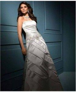 Nowa, Unikalna, Amerykańska Suknia Ślubna Firmy Alfred Angelo, Styl: 822, Rozmiar 10 (USA), Kolor: Silver Frost (Przyprószone Srebro)/Metallic (Metaliczny)