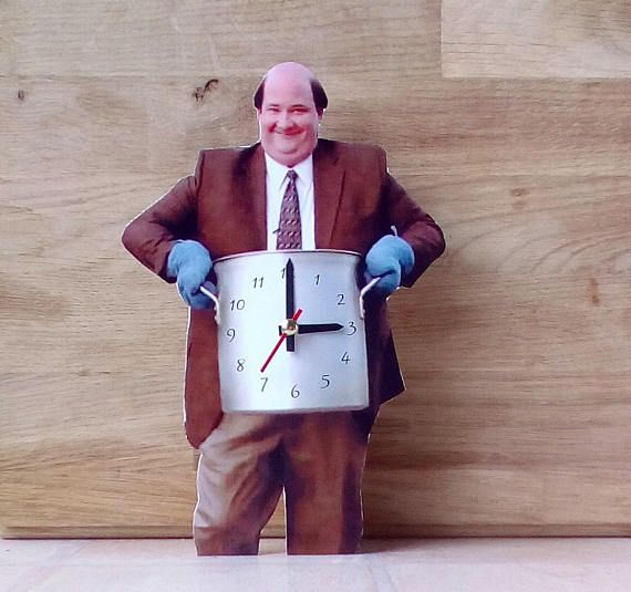 Kevin Malone Table Clock Home Decor Original Clock Hand Table Clock Wall Signs Home Decor