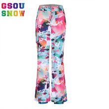 US $63.22 Gsou Snow Waterproof Ski Pants Women Colorful Snowboard Pants Ladies Camouflage Skiing Pants Winter Windproof Skis Trousers. Aliexpress product