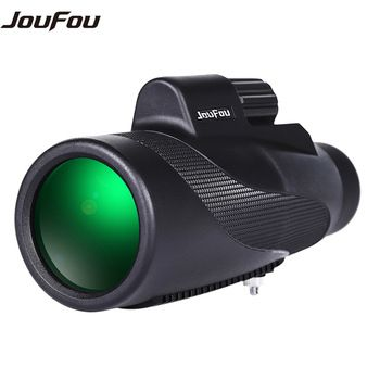 JouFou 12X50 Mini  Monocular Zoom Telescope Optic Lens High Power Waterproof HD Night Vision for Outdoor Hunting