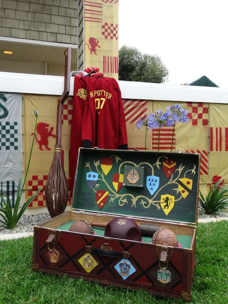 Get ready for a match of Quidditch! What a better way to have fun at a Harry Potter Birthday Party! See more party ideas at CatchMyParty.com