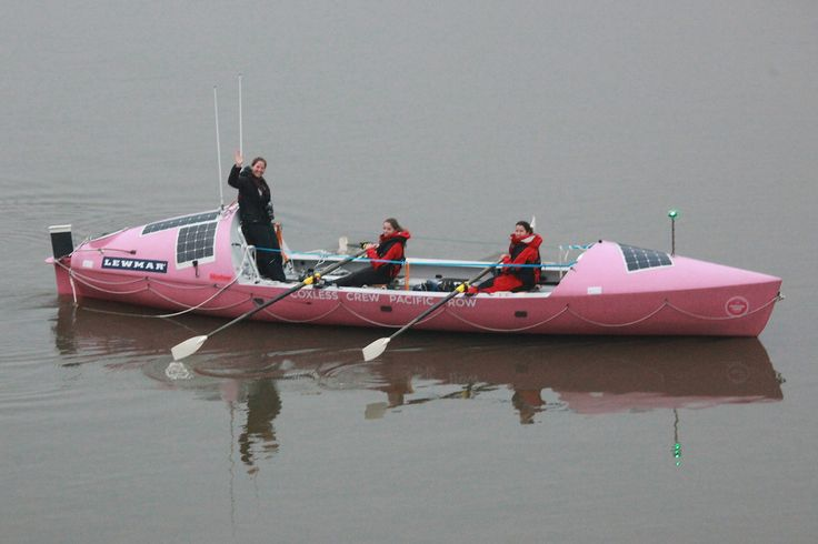 These ladies rowed by training early this morning 'Coxless Crew Pacific Row' they aim to become record breakers rowing from San Diego California to Cairns Australia, raising money for 'Walking with the Wounded' and 'Breast Cancer Care'. They begin their epic journey in 121 days. Check their website out coxlesscrew.com