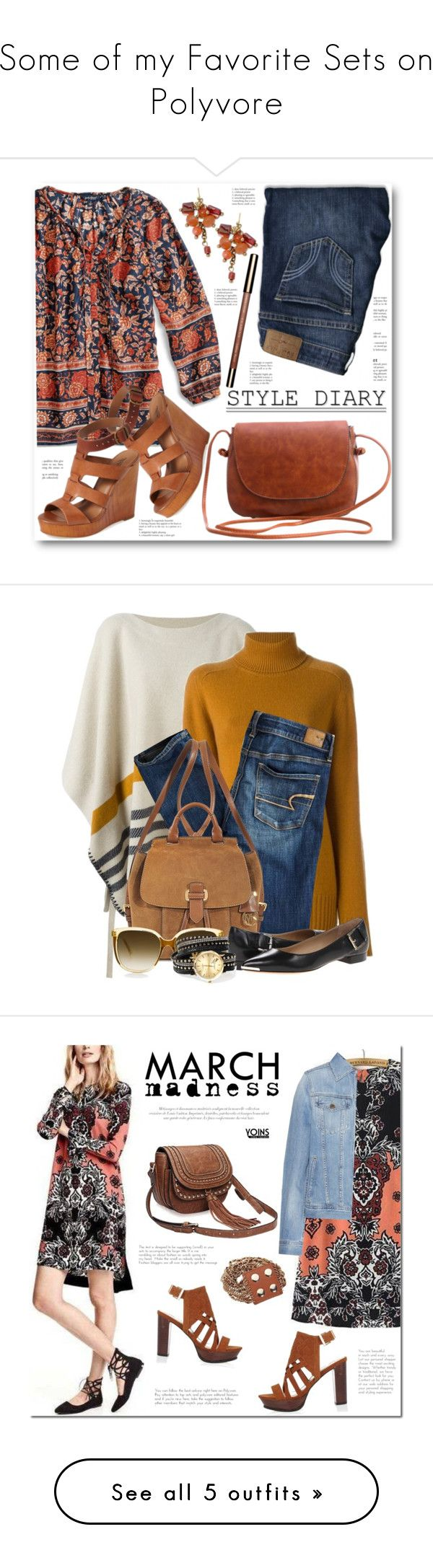 Some of my Favorite Sets on Polyvore by annabu on Polyvore featuring Lucky Brand, Hollister Co., Clarins, Chloé, American Eagle Outfitters, MICHAEL Michael Kors, Michael Kors, AG Adriano Goldschmied, River Island and vintage