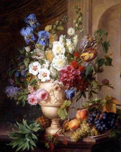 """Gerard van Spaendonck (1746-1822, Dutch), """"Bloemen en Verlangen"""""""
