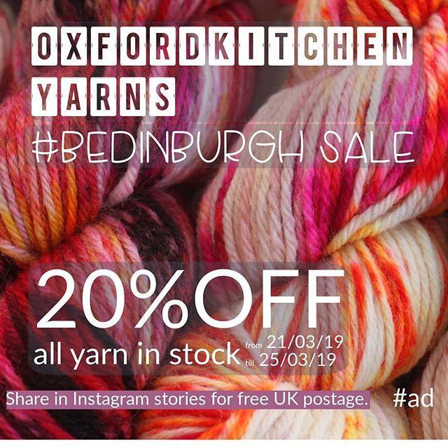 Yup still going! Beautiful handpainted British yarn dyed by
