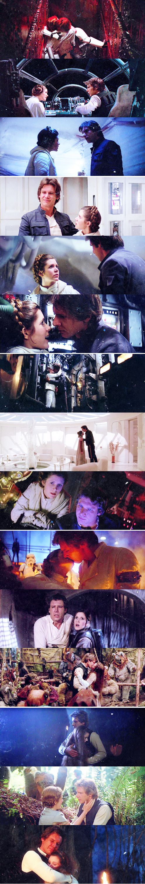 Han Solo and Princess Leia - What do you fangirls say, again? Oh, right. I SHIP THIS.
