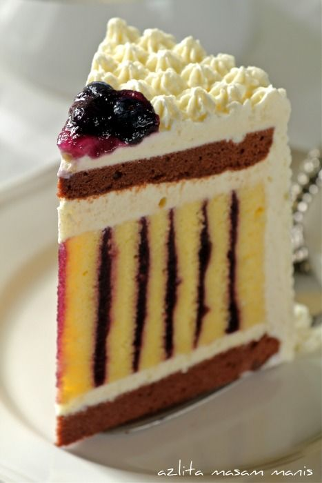 Chocolate Blueberry Roulade Torte
