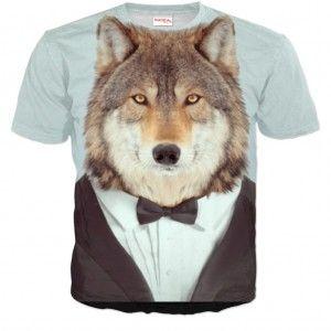 ELEGANCKI WILK Koszulka Tshirt Full Print