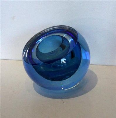 Glass Double Bubble Geode - No. 23 medium blue by Rebecca Heap from The little GALLERY of fine ARTS