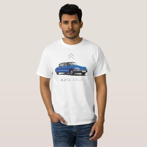 Citroën DS 23 blue - white top, badges DIY  #citroen #citroën #ds23 #citroends #automobile #car #tshirt #classic #