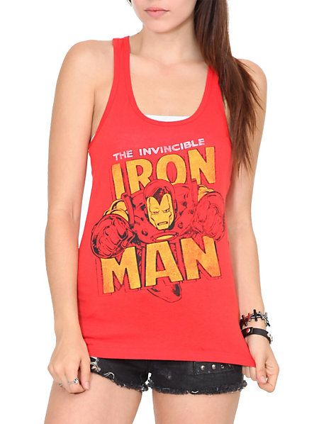 Marvel Universe Invincible Iron Man Girls Tank Top | Hot Topic    DO WANT