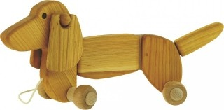 BAJO Dachshund pull-along, natural
