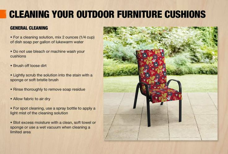 13 Best Images About Cleaning Outdoor Cushions On