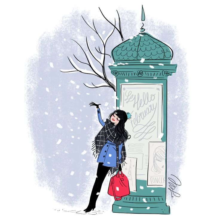 FEBRUARY... Another month of snow and cold... Bundle up!