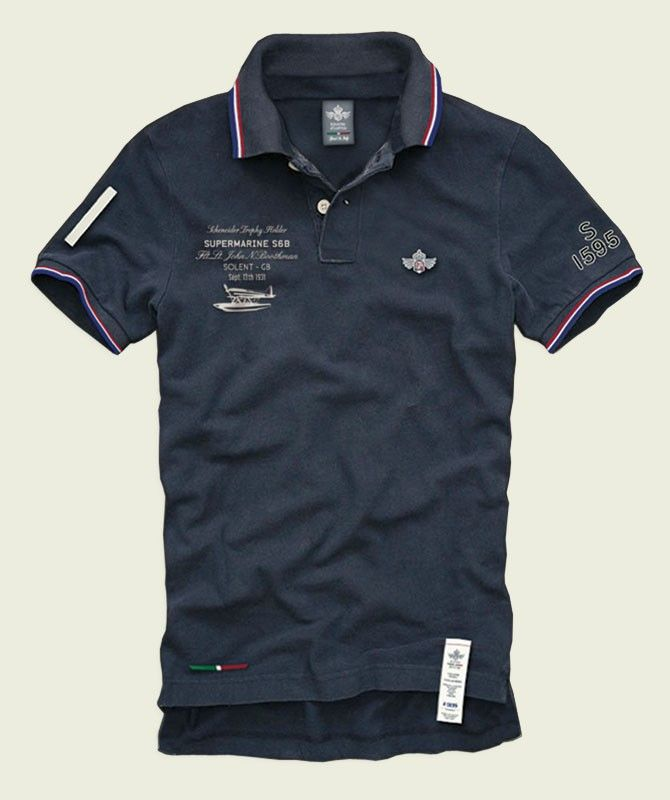 SA002 Supermarine S6B Boothman  100% Made in Italy  Certified Original Italian Product  100% Cotton  Piquet - 210 gr. sq./mt.  Vintage Aviation Department   £59