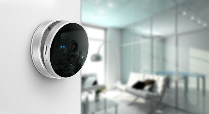Smart home camera with thermometer + PIR sensors