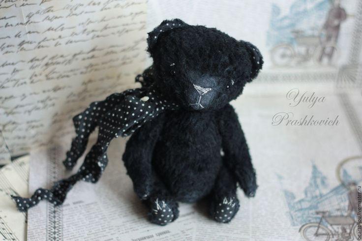 Купить мишка тедди Чёрный - черный, мишка тедди, мишка ручной работы, черный мишка