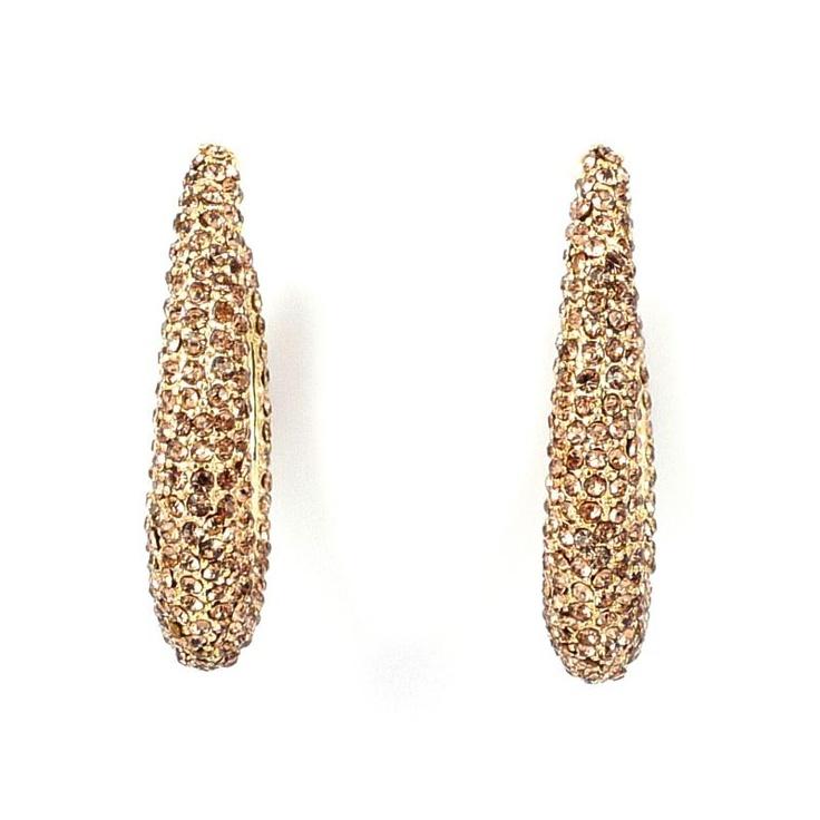 Mikey London Gold Crystal Hoop Earrings £21