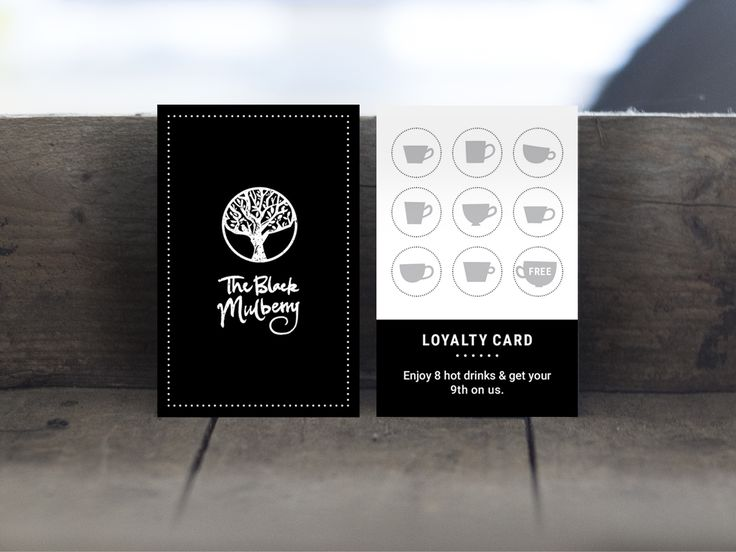 Black Mulberry Cafe - Loyalty Card Design                                                                                                                                                                                 More