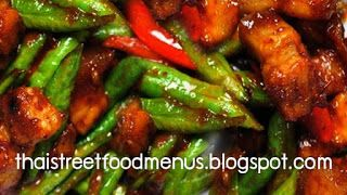 Thai pork fried with Chillies ginger and String beans menu. #thaifoodmenu #thaifoodrecipe #thaistreetmenu #thaimenu  http://thaistreetfoodmenus.blogspot.com