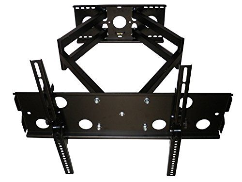 From 24.99 Intecbrackets - Longest 900mm Reach Heavy Duty Cantilever Tv Wall Mount Bracket For 46  65 Tvs  Double Arm For Added Safety With Swivel And Tilt With A Super Strong 60 Kg Weight Rating Complete With All Fittings & Fixings