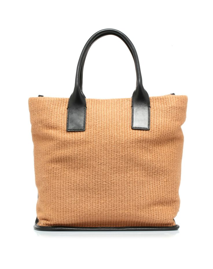 Jute bag with handles and detachable shoulder strap hand in cotton by @Dolce & Gabbana