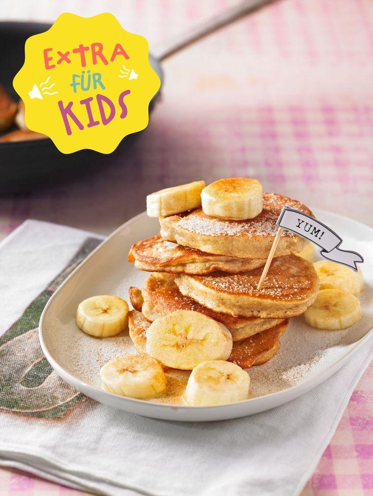 Mmh... Pancakes zum Frühstück sind immer eine gute Idee! Jetzt können eure Kids ganz einfach mithelfen!