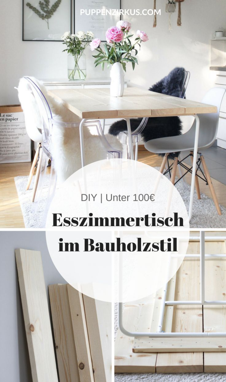 DIY Den Esszimmertisch Selbst Gestalten Puppenzirkus Make The Dining Room Table
