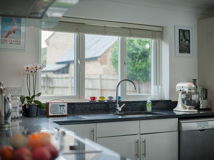 Image of what the counter top and bar top with the bil fold window might look like
