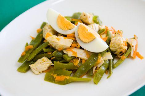 Salada de Feijão Verde com Frango   SaborIntenso.com