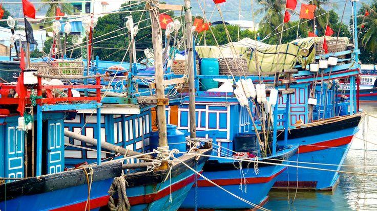 Fishing boats in Nha Trang, Vietnam.