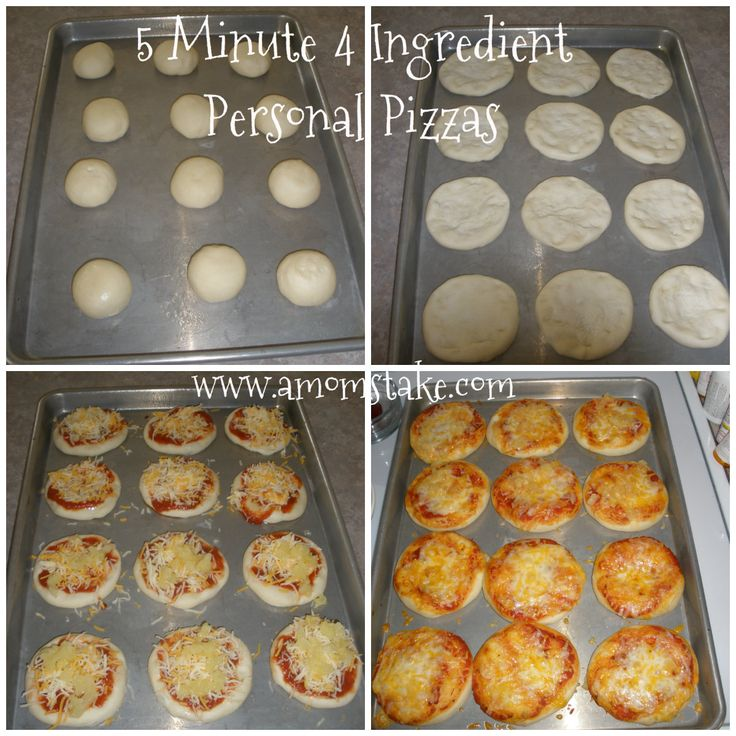 Great Game Day Food for the Kids. :)  Easy Dinner Recipes: 5 Minute 4 Ingredient Personal Pizza Recipe