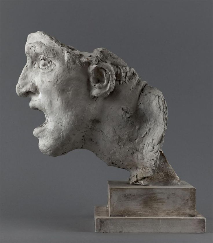 Antoine Bourdelle (France 1861-1929), head study with pedestal for the monument of Montauban, plaster, 1893-1897. Collection Musée Bourdelle, Paris.