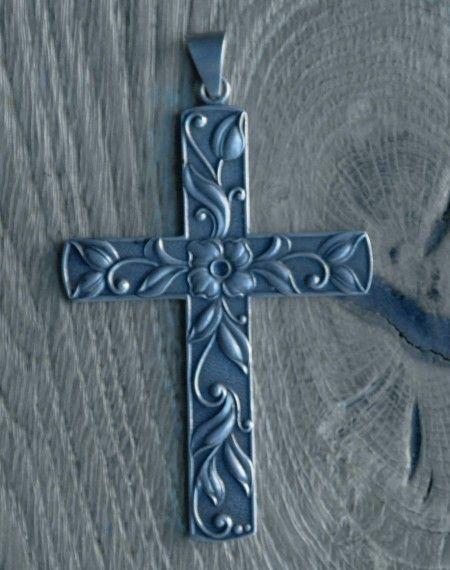 01010239       I B Jensen. Skonvirke cross. 830 silver. Marked 'BJ'. View 1 of 3.
