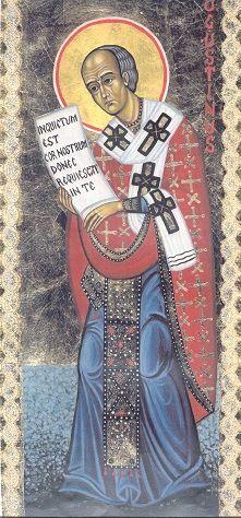 icona  di Sant'Agostino da trittico www.mirabileydio.it