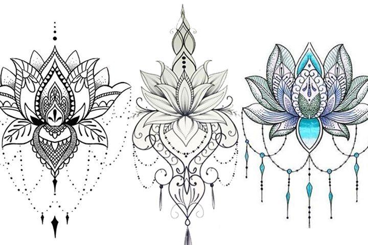 Flor De Lotus Mais De 70 Modelos De Desenhos Tatuagens Ideias Tatuagem De Flor Tatuagem De Flor De Lotus Desenhos Para Tatuagem