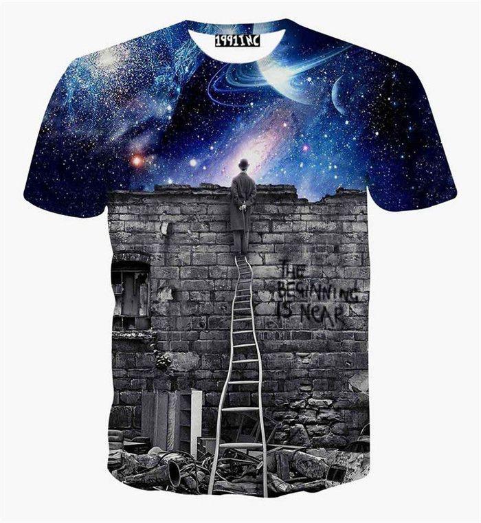 The Thinker Printing Abstract t-shirt Unisex Women/Men Casual 3d t shirt