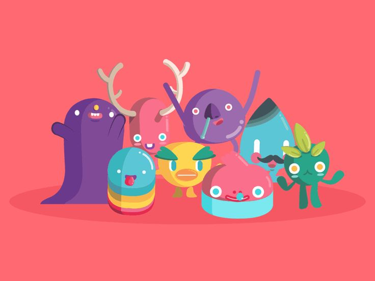 FanDanz App Animated Characters by The Woork Co