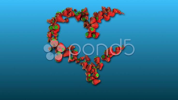 Juicy Love - Strawberry Heart - Stock Footage | by maraexsoft
