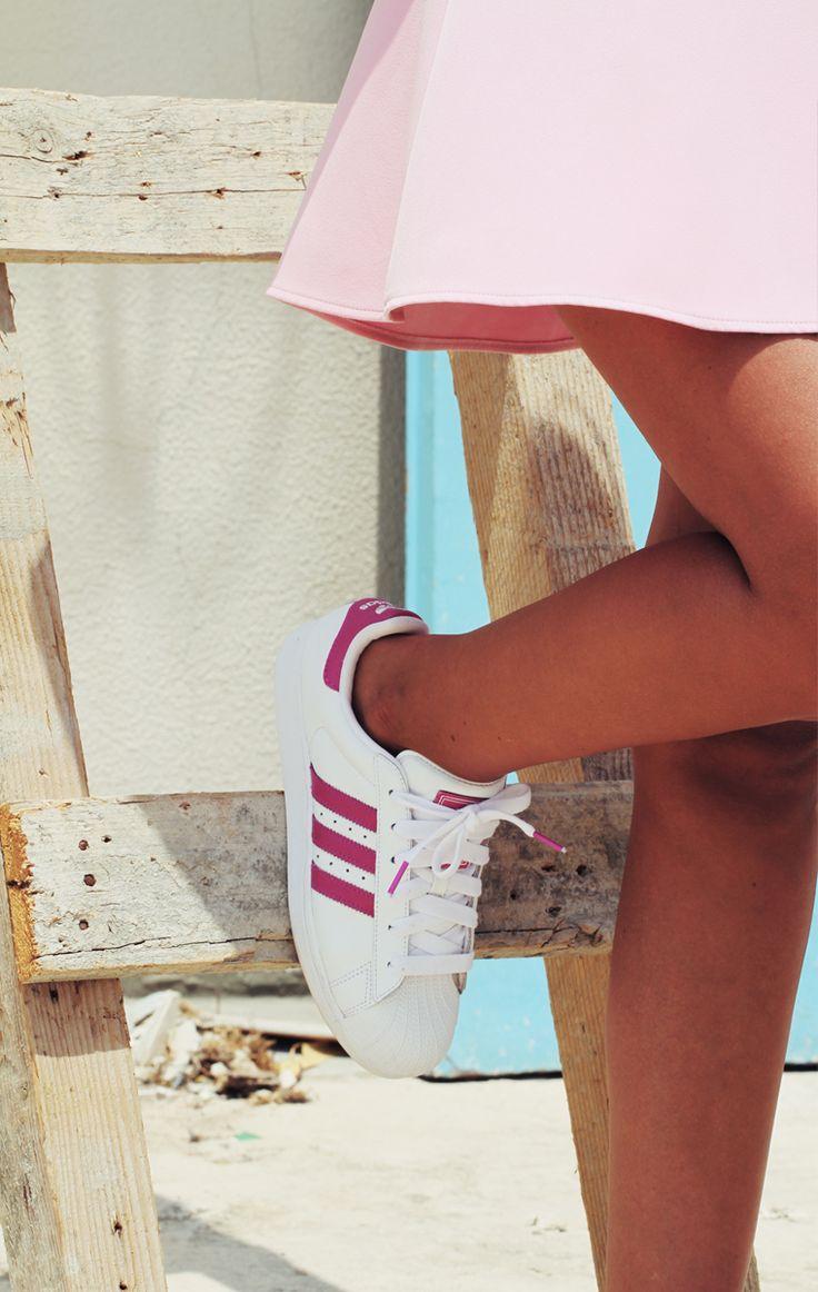 Adidas Superstar Mujer Rayas Rosas