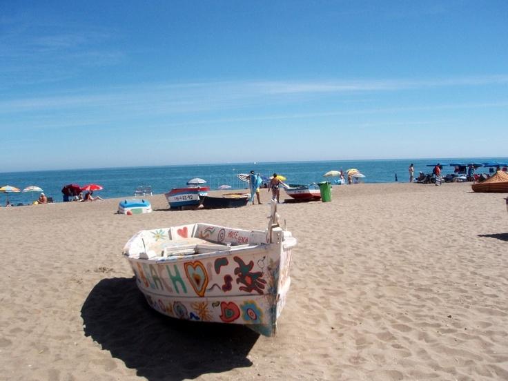 La Carihuela beach in Torremolinos