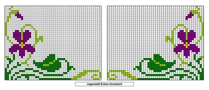 Cross stitch pattern border