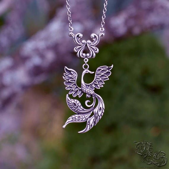 Necklace The Feathers of Clouds - fantasy fantastic fairy elven fairy gothic legend bird phoenix wings - North Shaman