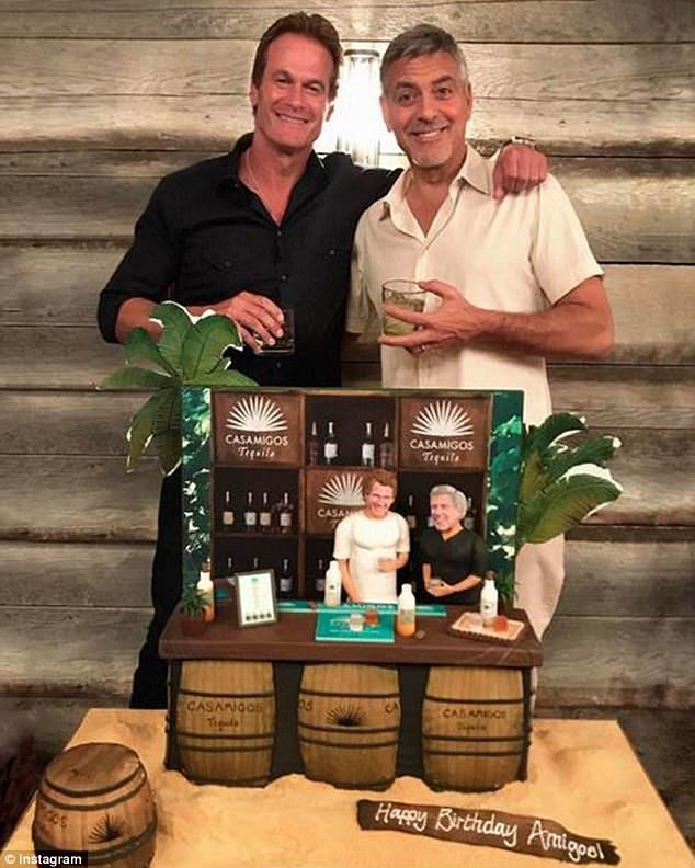 Dynamic duo: On Friday, Rande Gerber couldn't help but gush over his friend George Clooney's new twins (pictured in an Instagram snap)
