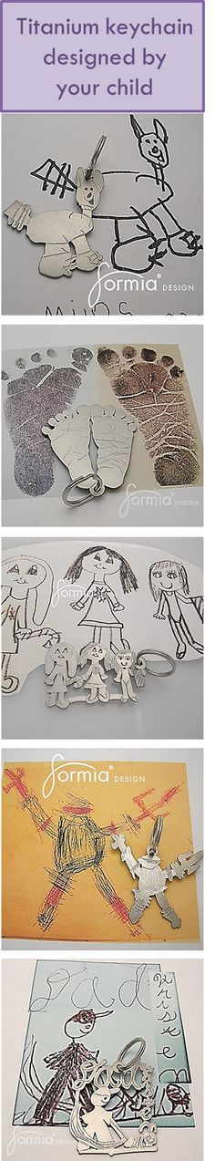 handmade keychains and jewelry from your own child's art. www.formiadesign.com