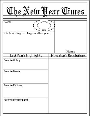 New Year Idea: Every year have your kids fill out FREE printout and save in a folder to remember New Year's Resolutions! ~Life Sprinkled With Glitter
