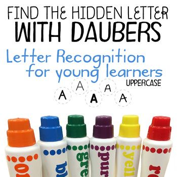 In these no-prep hidden letter literacy printable for preschoolers, you get 26 dobber uppercase letters worksheet: A-Z. Each worksheet has letters in various fonts to help prekinders recognize the same letter can look slightly different. What you get: • A-Z (uppercase) dobber