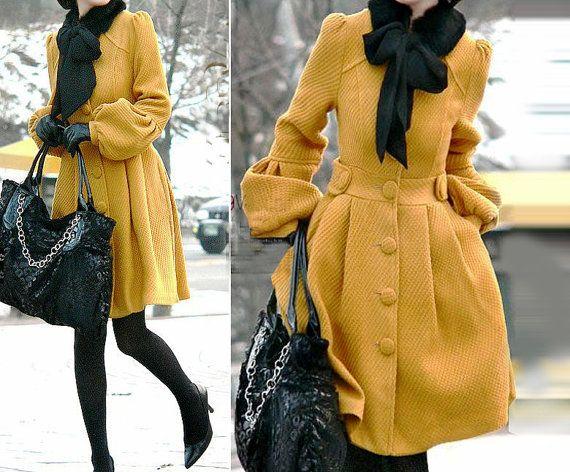 Cashmere dress coat. love